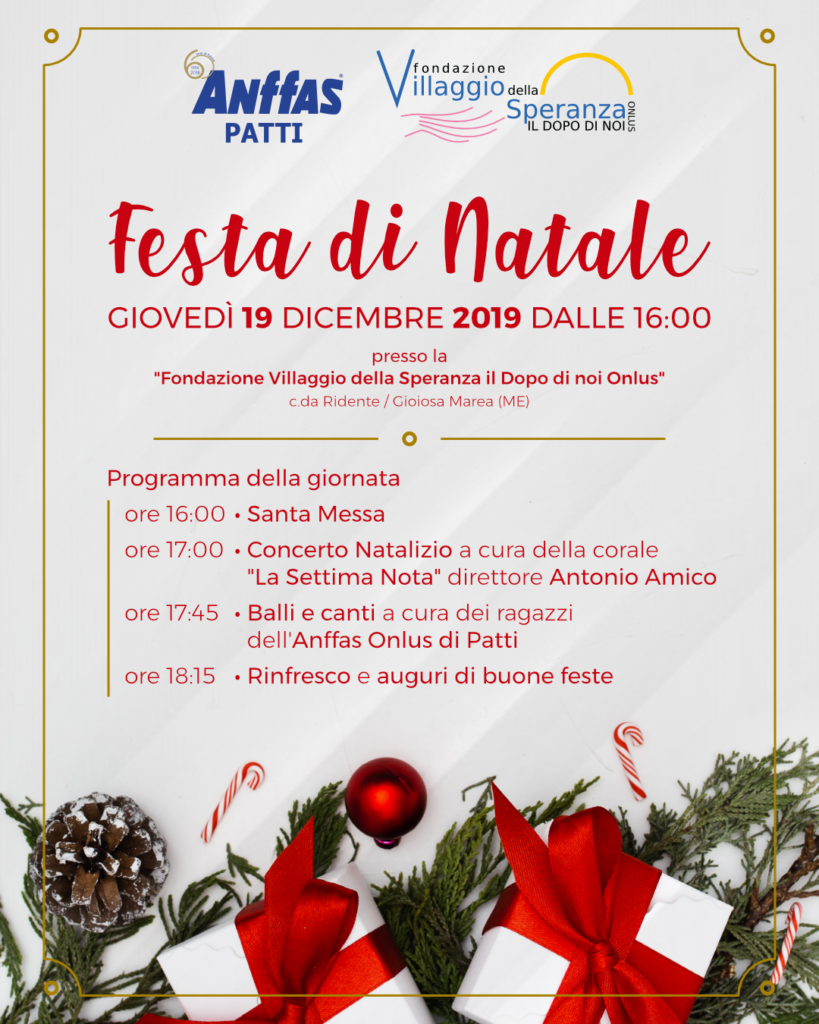 Festa di Natale 2019 Anffas Onlus Patti